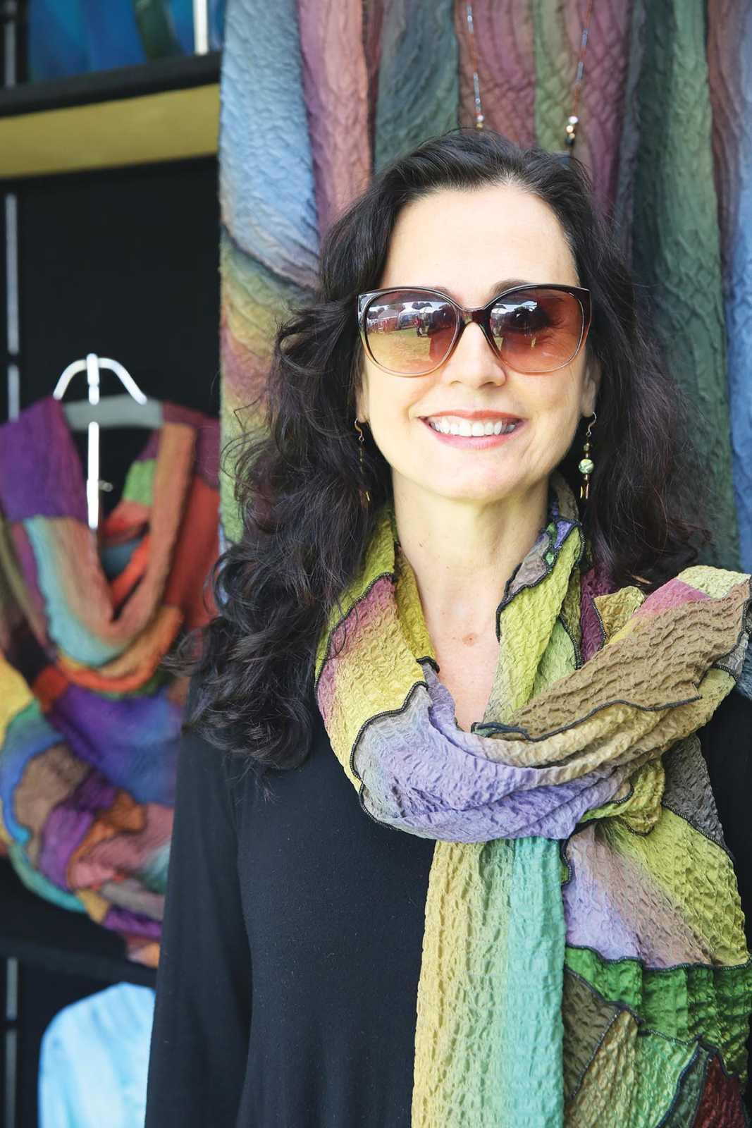 Lisa Mergen - wearable art Photograph by Tammy Gentuso