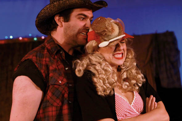 Joe Robinson, Cori Laemmel in The Great American Trailer Park Musical