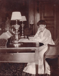 Edith Wharton in The Mount's Library