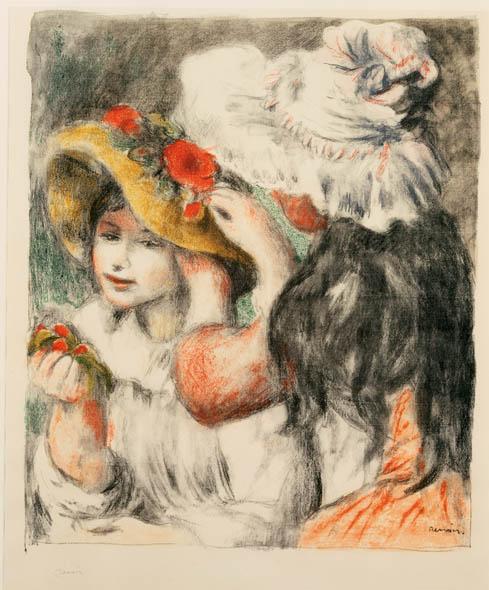 Pierre-Auguste Renoir, Le Chapeau Épingle (The Hat Pin), 1898, Color lithograph on paper