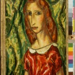 Alfred Maurer, Woman in Red Dress, undated, 1916 Oil on canvas