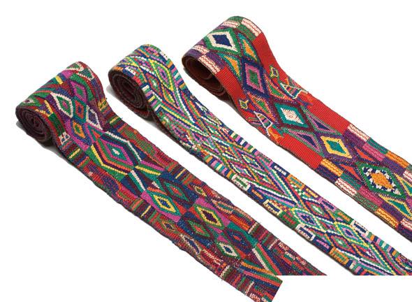 "Guatemalan Hand-woven Belts, ""Fajas,"" Nebaj, Departamento de El Quiché, circa 1980."