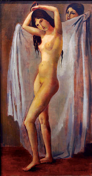 Bernard Karfiol (1886-1952), Nude and Figure, 1924/5, Oil on canvas, photographed by Anthony Scarlati