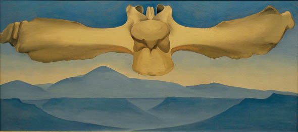 Georgia O'Keeffe (1887–1986), Flying Back Bone, 1944, photographed by Anthony Scarlati