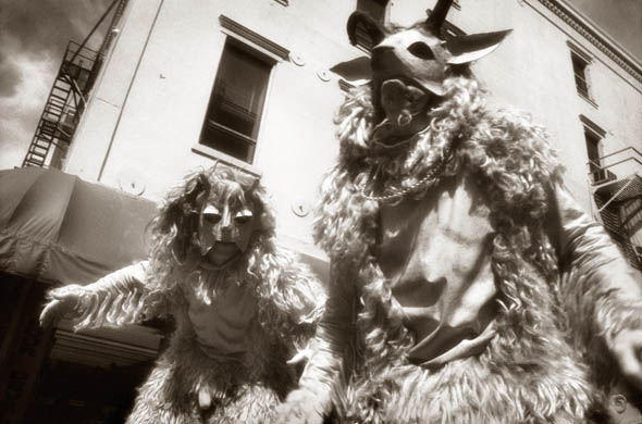 Mardi Gras beasts, New Orleans. This is a dreamscape, a call to face our demons.