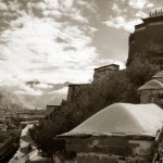 Entering the Potala Palace, Lhasa, Tibet, with an altitude of 12,000 feet. This is called the roof of the world.