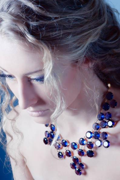 "16"" Crystal Confection collar necklace (color purple multi), Kate Spade, $275"
