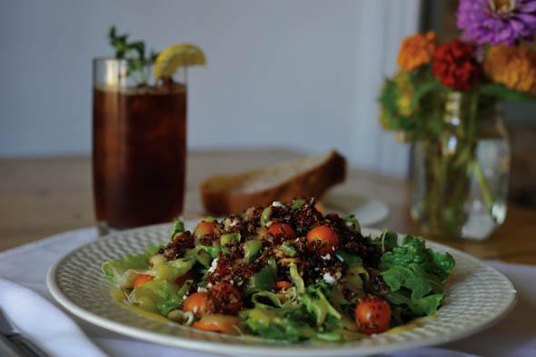 Joe Natural's Red Quinoa Salad with Lemon Curry Vinaigrette