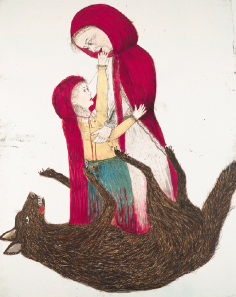 """Kiki Smith, Born, 2002, Lithograph, plate: 68 1/8"""" x 55 11/16"""", sheet: 68 1/8"""" x 56 1/8"""", Edition of 28, © Kiki Smith / Universal Limited Art Editions, 2002, Image © The Museum of Modern Art / Licensed by SCALA / Art Resource, NY"""