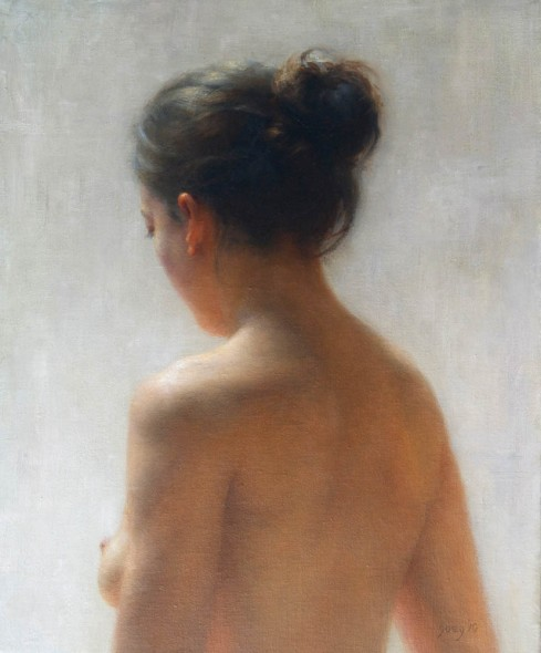 """Yma From Behind, 2011, Oil on Linen, 18"""" x 15"""""""