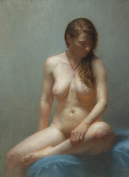 "Solitude, 2011, Oil on linen, 27"" x 23"""