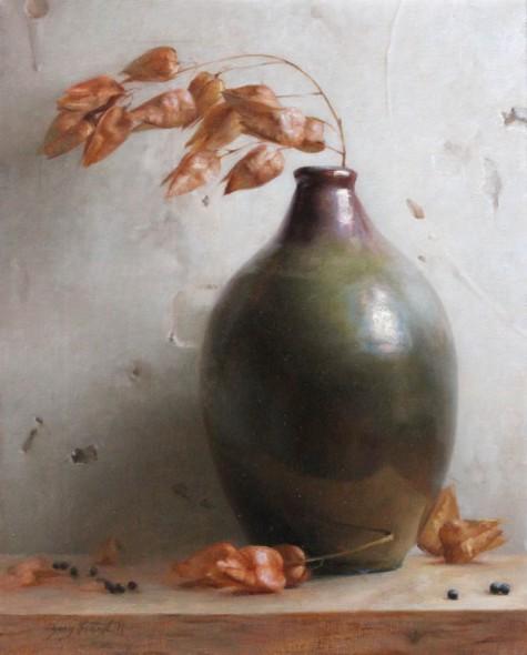 """Bernie's Vase, 2011, Oil on linen, 16"""" x 13"""""""