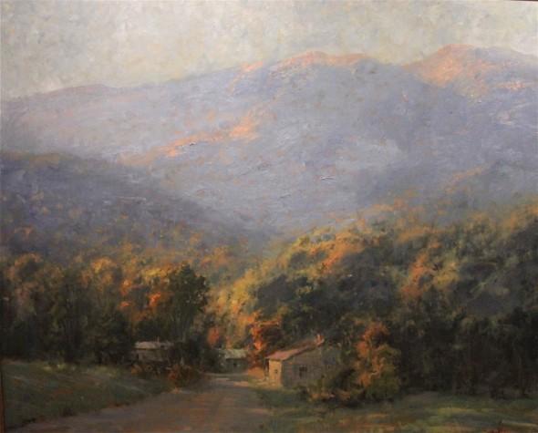 """Morning Sunrise, Oil and linen, 48"""" x 60"""""""
