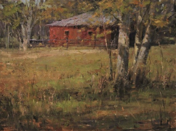 "Country Side Fall, Oil on Linen, 18"" x 24"""