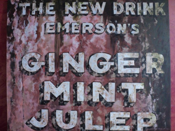 Ginger Mint Julip, acrylic, 36x40, 2012