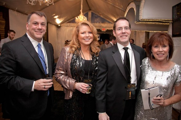 Oscars at the Belcourt - Vince Dreffs and Amy Atkinson, Co-chairs Amos Goss and Holly Hoffman