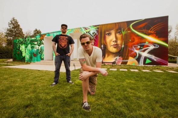 Graffiti Artists Joey Nix and Jeff Jacobson