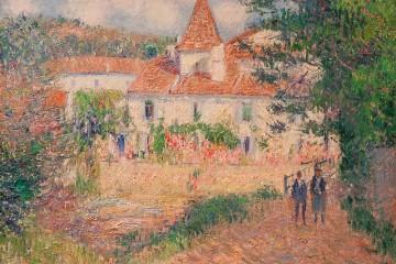 """Gustave Loiseau, French, La Maison Rose à Brantôme, Oil on canvas, 21 1/2"""" x 25 3/4"""""""