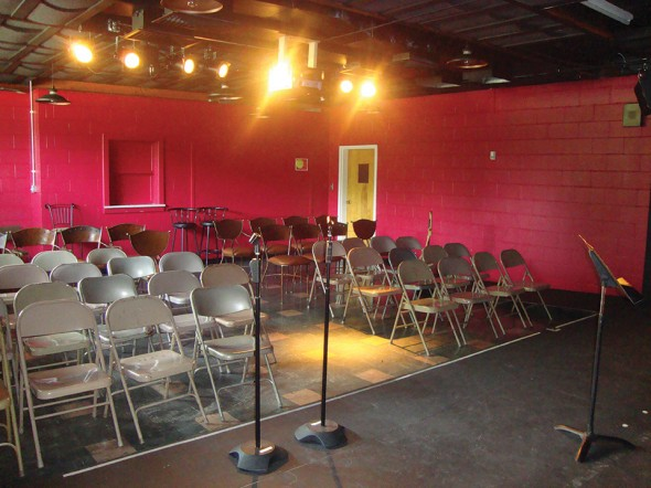 CBB has 56 seats theatre-style (or 33 in a cabaret setup)