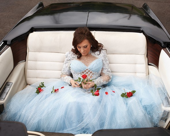 Loretta Lynn: This was shot right after the flood in 2010 at my Nashville studio. We used an old Cadillac and roses that had been destroyed when my street became a river.