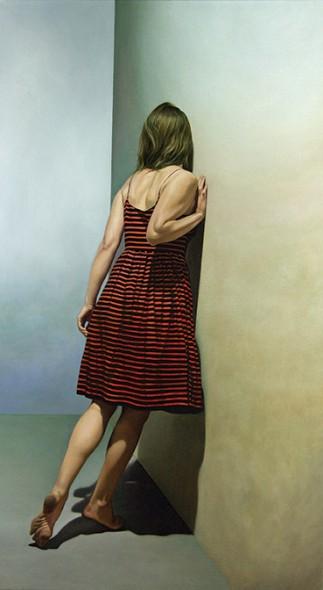 """Jeff Danley, Listening, Oil on canvas, 64"""" x 36"""""""