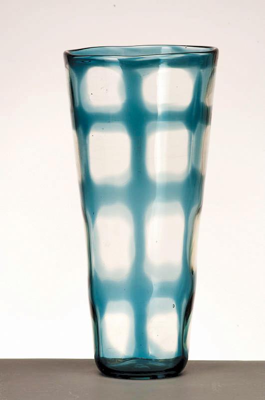 "Window Vase, 2009, Glass,  5"" x 5"" x 16"""