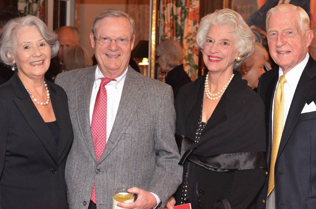 Mary and Charlie Cook, Julia and Bob Lowe – Literary Patrons Party