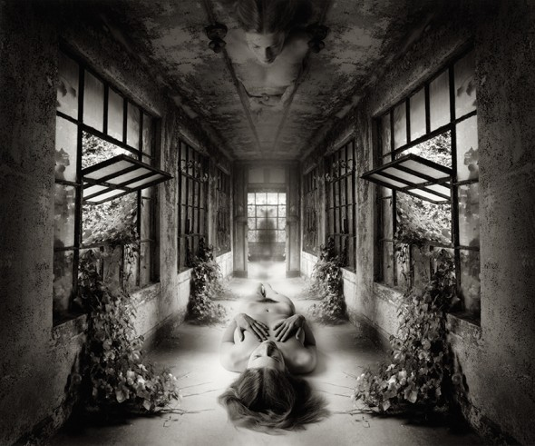 "Jerry Uelsmann, Self Reflection, 2009, Gelatin silver print, 20"" x 16"""
