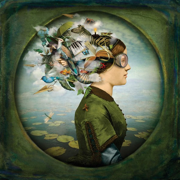 "Maggie Taylor, The Burden of Dreams, 2012, Archival inkjet print, 15"" x 15"""