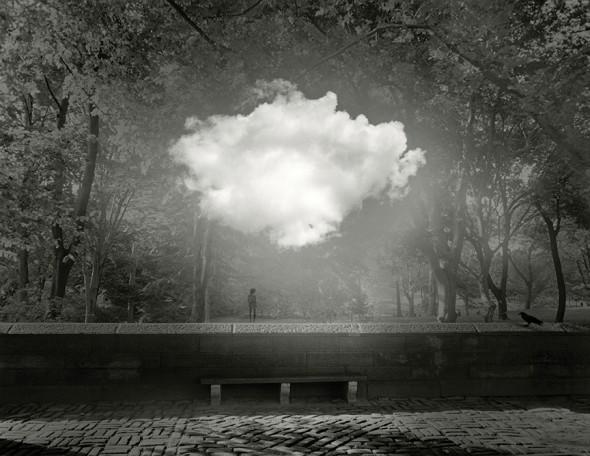 "Jerry Uelsmann, Untitled, 2013, Gelatin silver print, 20"" x 16"""