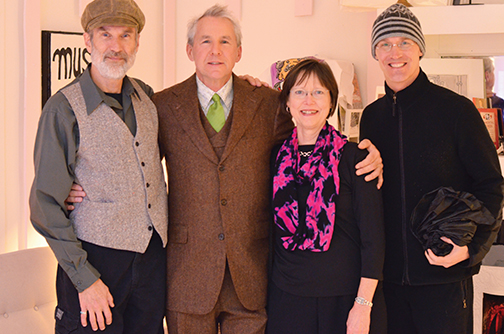 Myles Maillie (in 3-piece suit) and friends – Maillie Holiday Party