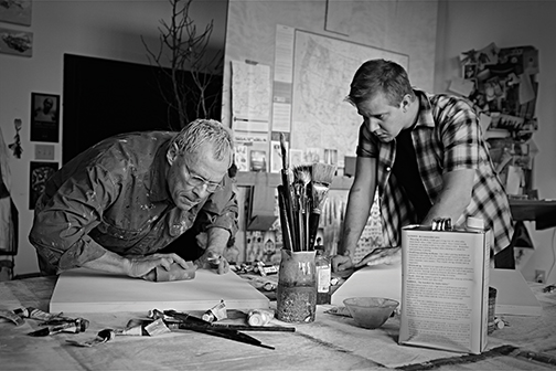 Chip Arnold and Benjamin Reed as Mark Rothko and his assistant Ken in RED