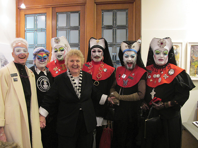 Anne Brown with The Music City Sisters of Perpetual Indulgence at The Arts Company. Photograph courtesy of The Arts Company