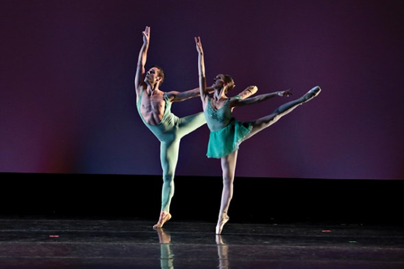 Dancers Brian Williamson and Jennifer Drake. Photograph by Martin O'Connor