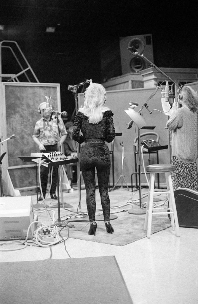 George Jones, Dolly Parton, and Emmylou Harris, 1994, Mount Juliet, TN