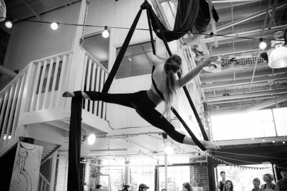 Rebekah Hampton Barger, FALL performance at Edgehill Artisan Fair. Photograph by Justin Harvey