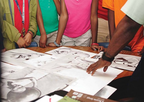 Oliver Middle School students experience art