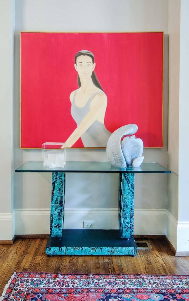 Foyer: Alex Katz, Pat II, Oil on canvas