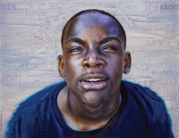 """John Jackson, It's12:01, 2014, Oil on canvas, 14"""" x 18"""""""