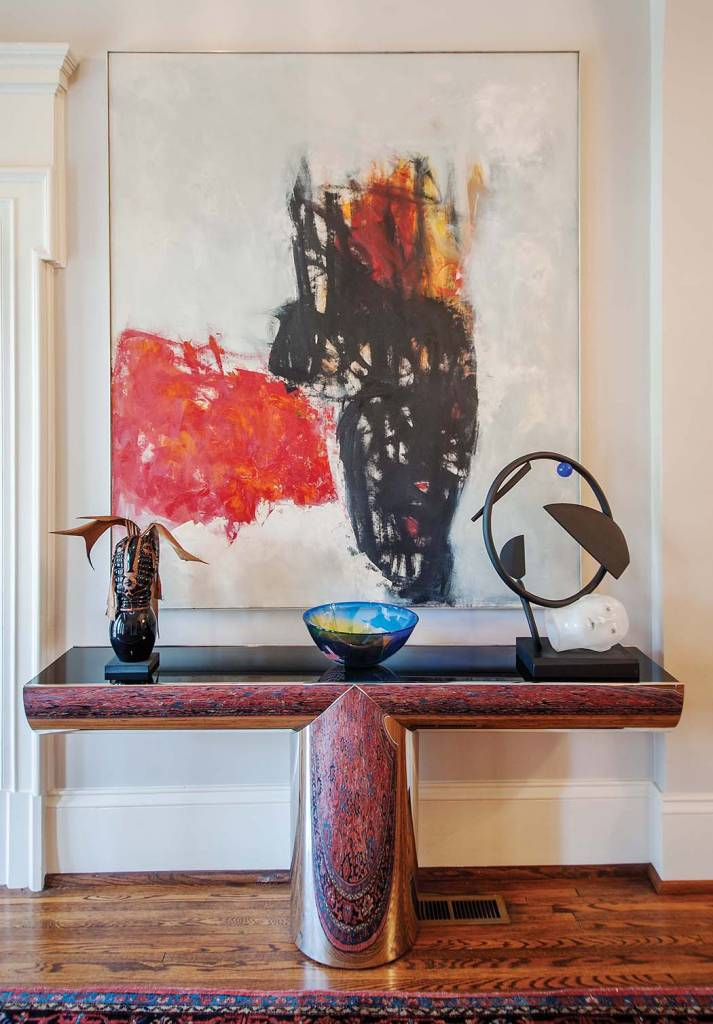 Foyer: Theo Stamos, Sun Moon Chalice, Oil on canvas
