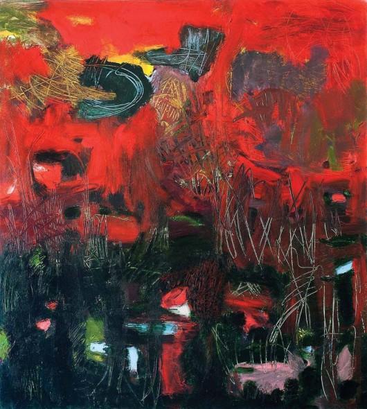 "Deborah Brown, The Herald, 1994, Oil on canvas, 58"" x 52"""