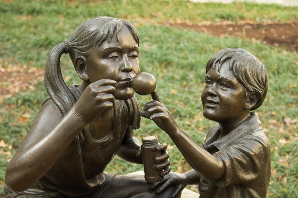 Blowing Bubbles (detail), 2001, St. George's Episcopal Church, Nashville, TN