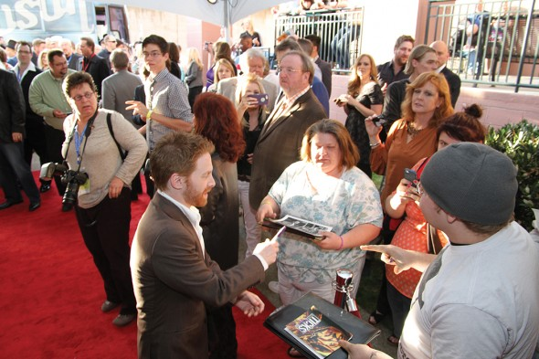 Seth Green meets with fans at the 2014 Nashville Film Festival. Image courtesy of NaFF