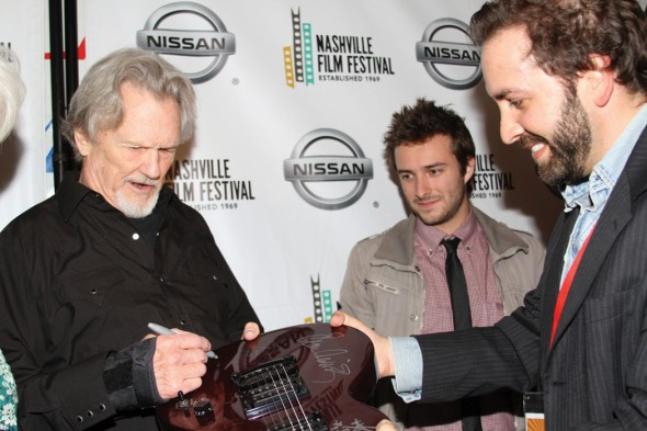 Kris Kristofferson and Joe Pagetta at the 2014 Nashville Film Festival. Image courtesy of NaFF
