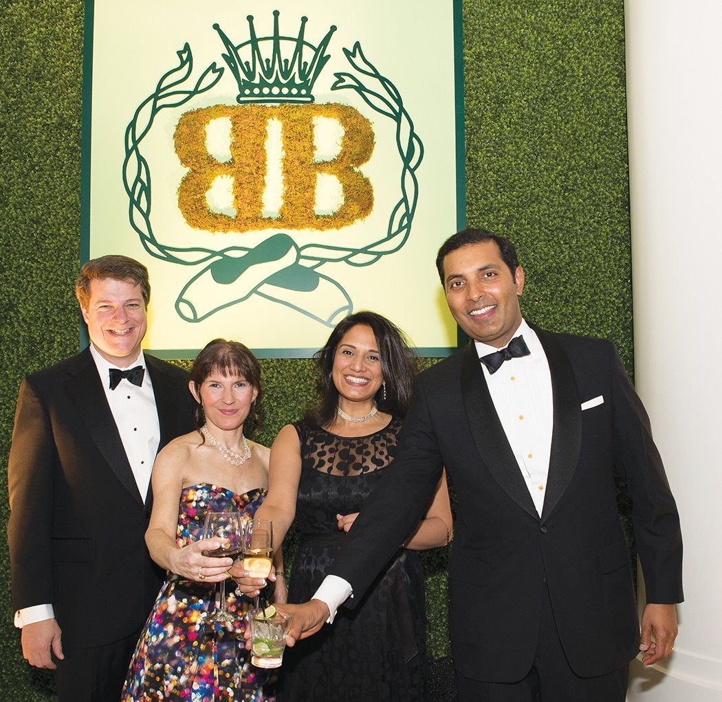 Patrick and Ellen McIntyre with Meera Ballal and Seenu Reddy