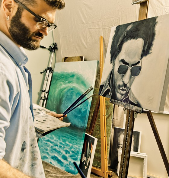 Artist Michael Damico