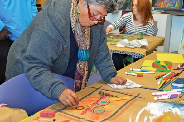 Kateri Pomeroy, artist in the Adopt a Homeless Artist program