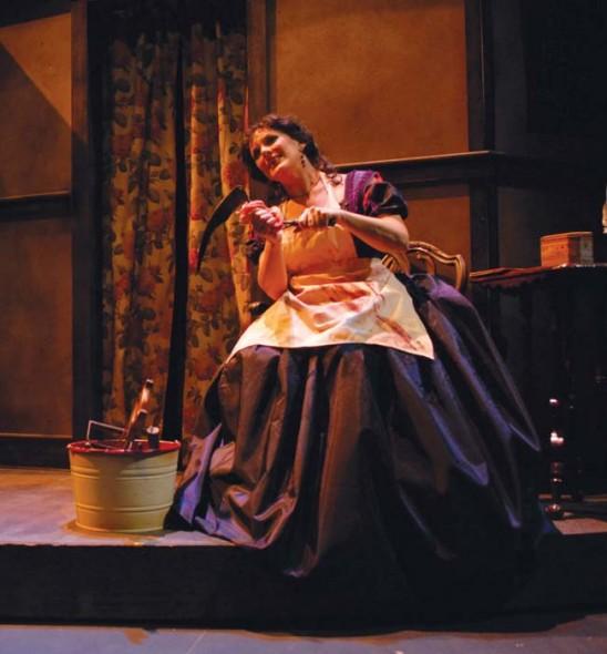 Martha Wilkinson as Mrs. Lovett in Sweeny Todd: The Demon Barber of Fleet Street