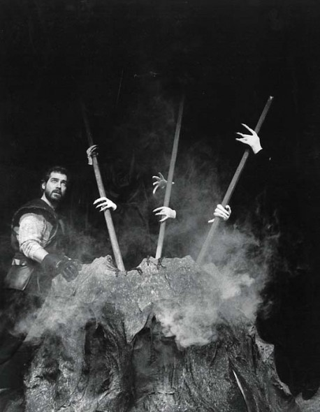 Tennessee Rep's first performance: Macbeth, 1985. Tennessee Rep archives