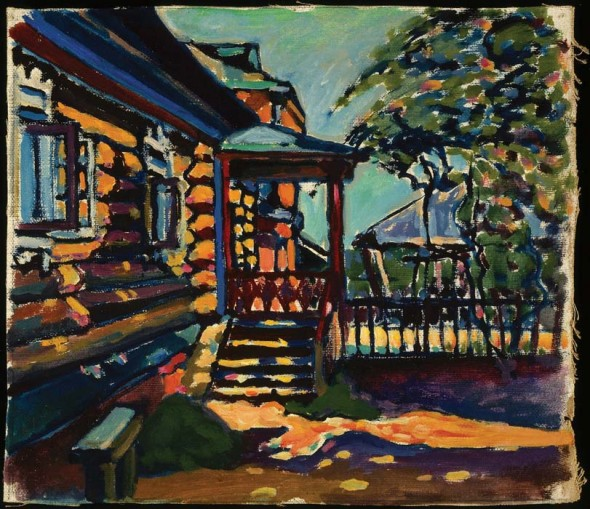 Achtyrka–Front Entrance to the Dacha, 1917, Oil on canvas, Bequest of Mrs. Nina Kandinsky in 1981, Photograph © Centre Pompidou